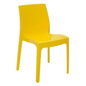 Cadeira Plastica Alice Amarela - Tramontina