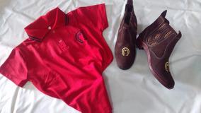 Botina Mangalarga Couro E Camisa De Polo Mangalarga Ofertaço