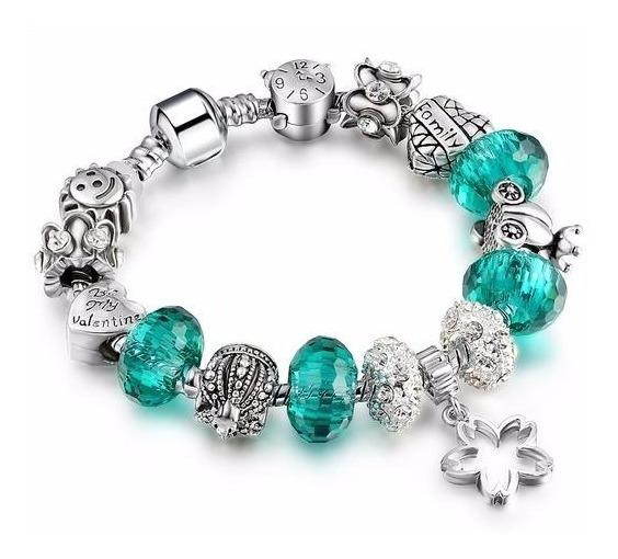 Bracelete Pulseira Murano Berloque Charm Prata 925 Pandora