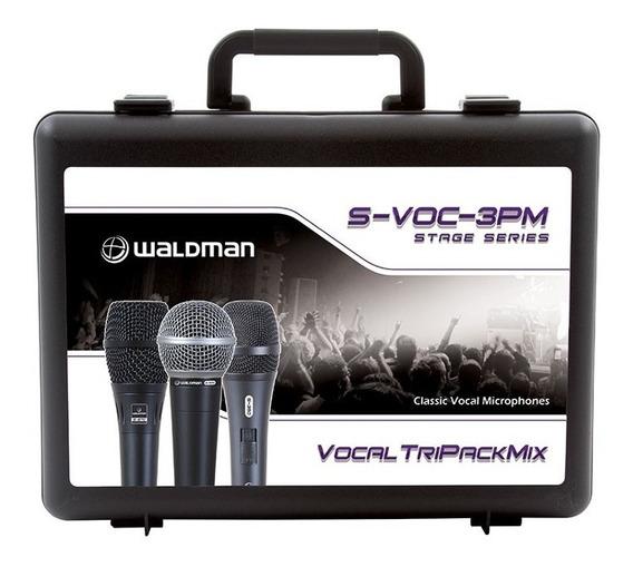 Microfone Com Fio Kit 3 Peças S-voc-3pm Waldman
