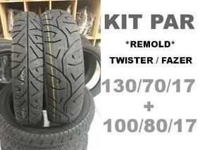 Jogo Pneus Remold 100/80/17 + 130/70/17 Twister Fazer 250
