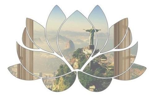 Espelho Flor De Lótus Decorativo 60x40 Cm -  Promoção