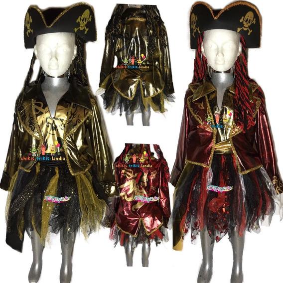 Disfraz Lujo Pirata Dama Hallowen Muertos Adulto Envío Grati