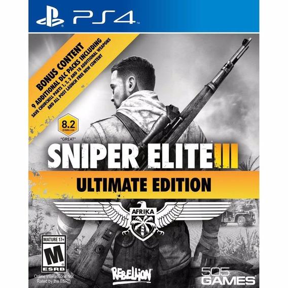 Sniper Elite 3 Ultimate Edition Midia Fisica Ps4
