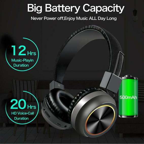Fone De Ouvido Sem Fio Bluetooth 5.0 Dobrável Estéreo Super