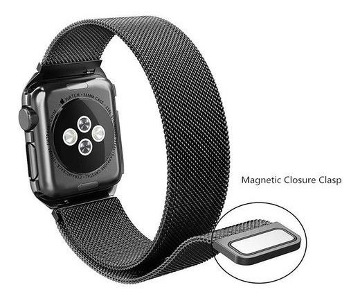 Pulseira Milanese Para Apple Watch E Iwo 38 40 42 E 44mm