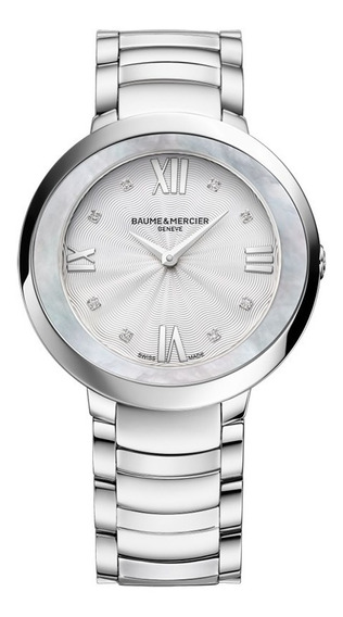 Reloj Baume & Mercier Promesse 10178 Acero Con Diamantes