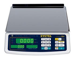 Balanza comercial digital Systel Clipse 31 kg blanco