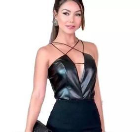 Body Blusa Blusinha Cirre Decote Feminino #ar111