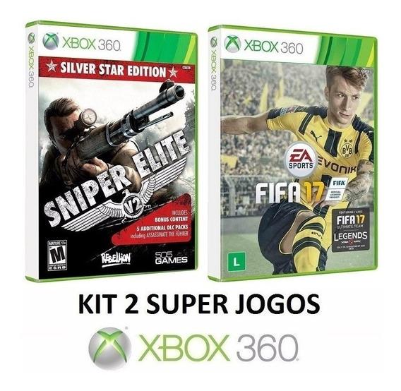 Sniper Elite V2 + Fifa 17 Futebol - Midia Fisica - Xbox 360