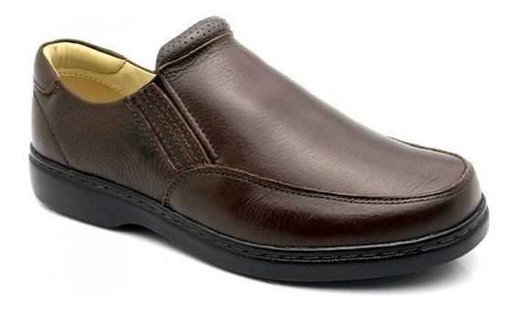 Sapato Masculino Magnético 410 Floater Café Doctor Shoes