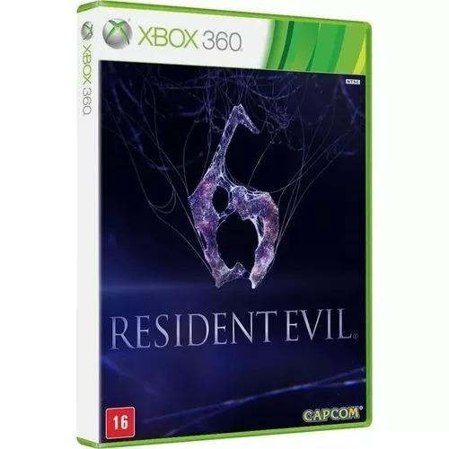 Jogo Resident Evil 6 Xbox 360 Português Mídia Física Novo