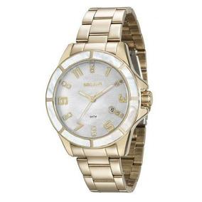 Relógio Seculus Feminino Dourado 20498lpsvds1