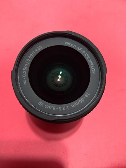 Objetiva Af-p Dx Nikkor 18-55mm F/3.5-5.6g Vr Semi Nova