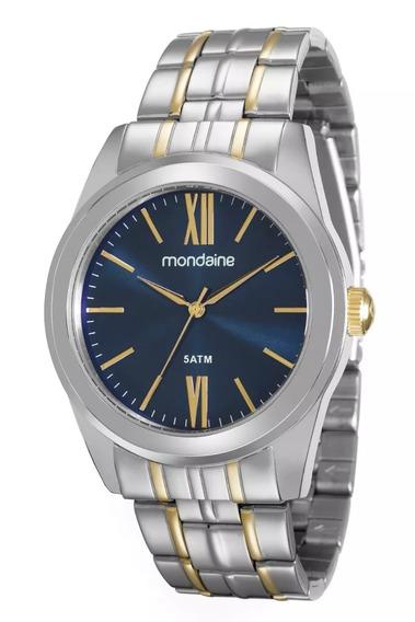 Relógio Mondaine Masculino Prata/dourado 78678lpmvba2
