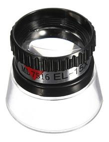 Lupa 15x 22mm Ocular - Plástico Pvc - Relojoeiro Joalheiro