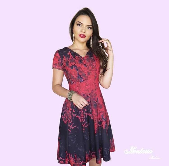 Vestido Mesclado Plus Size - Montaria Fashion
