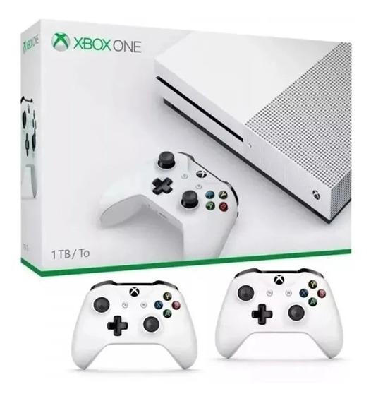 Xbox One S Slim 1 Tb C\ 2 Controles X One S - Pode Retirar