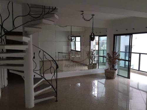 Imagem 1 de 19 de Cobertura Com 3 Dormitórios, 1 Suíte 2 Vaga À Venda, 300 M² Por R$ 2.600.000 - Boqueirão - Santos/sp - Co0090