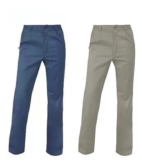 Ropa De Trabajo Ombu Pantalon Color Azul Beige Original