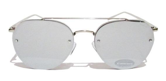 Óculos De Sol Feminino Masculino Estilo Ray Ban Cancun Frete Grátis Lentes Espelhadas Produto Original Com Nota Fiscal