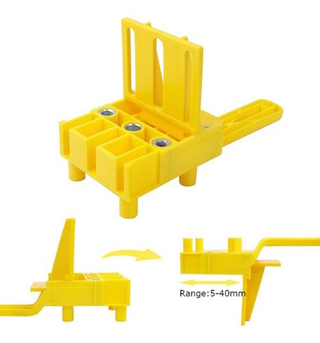 Carpinter/ía Posicionador de Punz/ón Tres en Uno Herramientas de Carpinter/ía de Aluminio Anodizado Panel Muebles Localizador de Agujeros