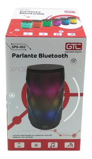 Parlantes Portátil Bluetooth Luces Led Colores Audioritmico