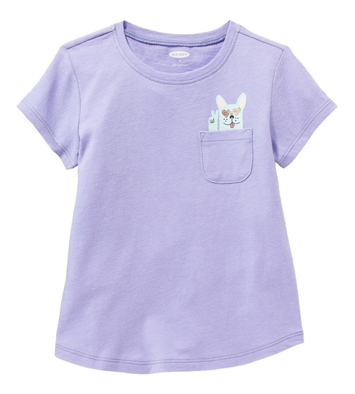Playera Niña Manga Corta Estampada Al Frente 392972 Old Navy
