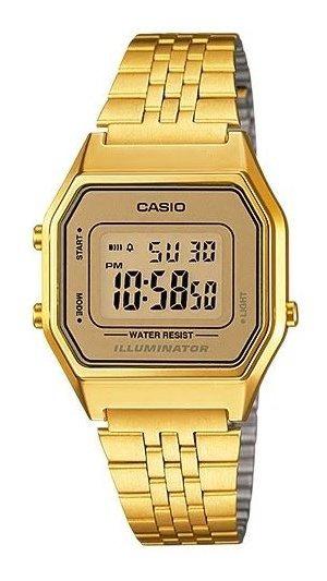 Relógio Casio F Cx E Puls Metal Aço Qz - La680wga-9