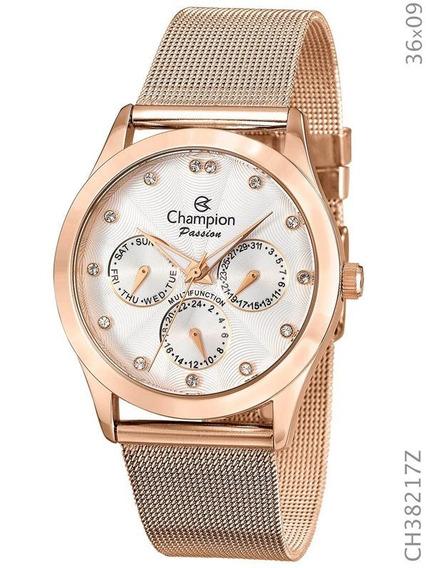 Relógio Champion Feminino Passion Rosé Ch38217z