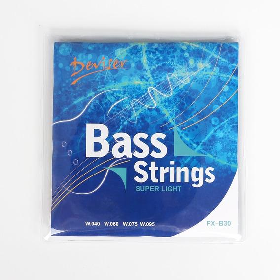 Cuerdas Para Bajo Encordado Completo 4 Cuerdas 0.40 / 0.50