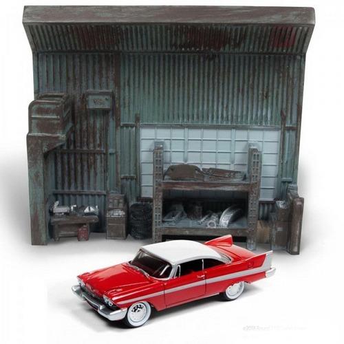 Christine 1958 Plymouth Fury O Carro Assassino Diorama 1:64