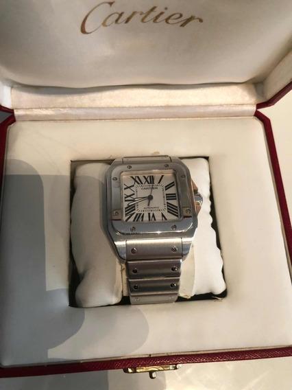 Cartier Santos 100 Xl Steel Automatico Impecável