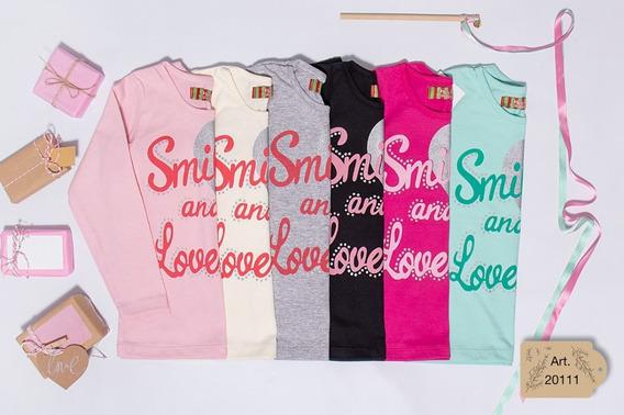 Camisetas Manga Larga Con Estampa