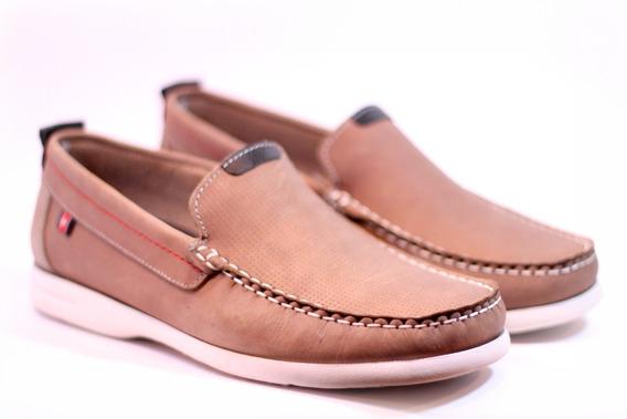 Zapatos Mocasines Náuticos Zurich 2254 De Cuero Vison