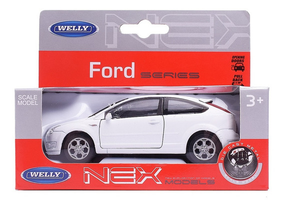Auto De Coleccion Ford Focus 1:36 Welly Pull Back