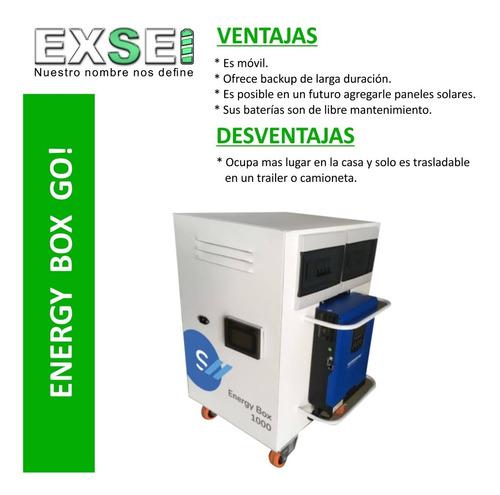 Imagen 1 de 10 de Energy Box Go! 3000 Solar, (ups) Con Baterías  Integradas