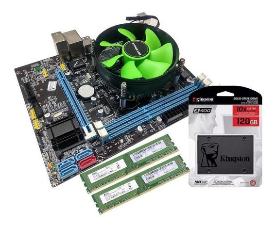 Kit Placa Mãe + Processador I3 + 4gb + Ssd 120gb