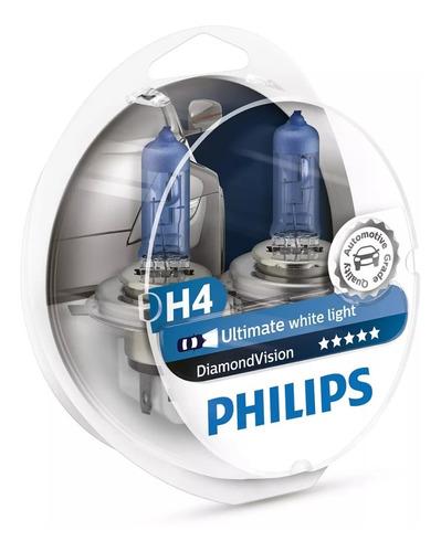 Bombillo Luces Carro H4 Luz Blanca Diamond Vision Philips