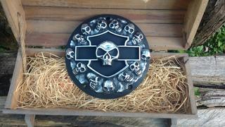 Tampa Primária Harley Fat Boy/bob,dyna,heritage Shield Skull