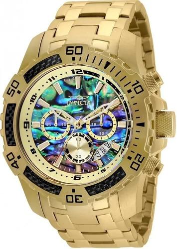 Relógio Invicta 25094 Pro Diver  Masculino Banhado Ouro 18k