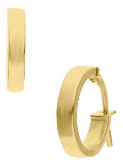 Arracadas De Oro Amarillo 14k Chicas 10mm-or31010 Y