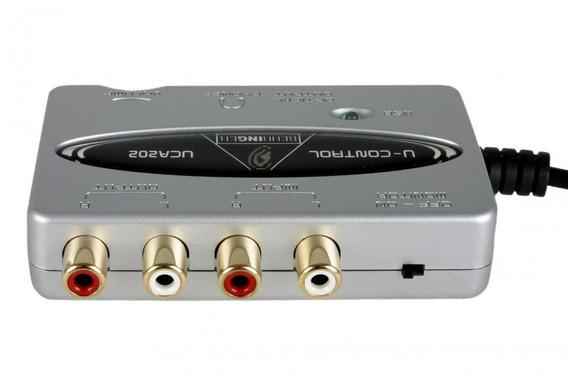 Interface De Áudio Usb Behringer Uca202 De 2 Canais