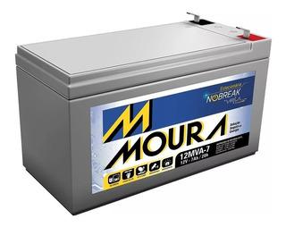 Bateria Estacionaria Moura 12v 7ah Para Nobreak Alarme Cerca