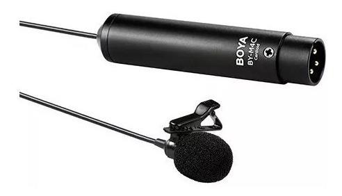 Microfone Lapela Xlr Boya By-m4c Cardióide Para Filmadora