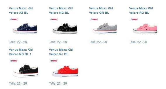 Zapatillas Infantiles De Lona Venus Kids (venta X Docena)