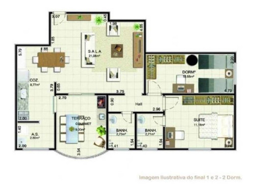 Apartamento - Venda - Caiçara - Praia Grande - Prf22