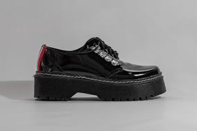 b57b21ed Mocasines De Mujer Con Plataformas Con Cordones - Zapatos en Mercado ...