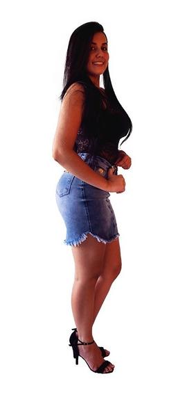 Saia Jeans Modelo Levanta Bumbum Pitbull Oferta