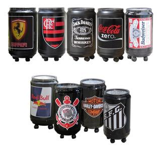 Cooler Termico Para 50 Latas E Com Rodinhas Várias Opções De Adesivos Cerveja Bebida Refrigerante Time